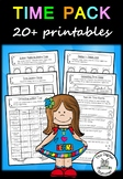 Time (telling the time - analog & digital) - 20+ printables (Measurement & Data)