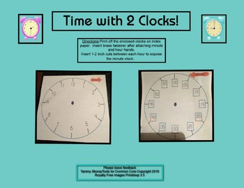 Telling time to the hour and minute