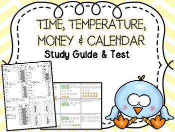 Time, Temperature, Money, & Calendar Test & Study Guide