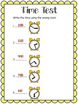Time Test with answer key!