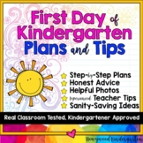 Back to school! First Day of Kindergarten Plans & Teacher Tips!