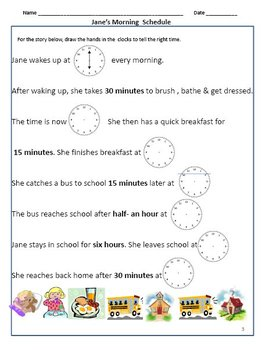 The Hour, Half Past, Quarter To & Past, Time Formats Worksheets