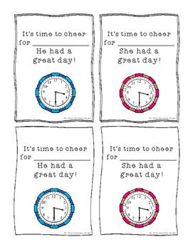 FREE Time Theme Happy Grams
