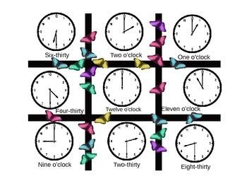 Time Tic Tac Bingo