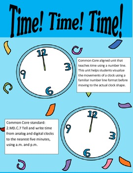 Time! Time! Time! Common Core Alligned (Time to the five minute)