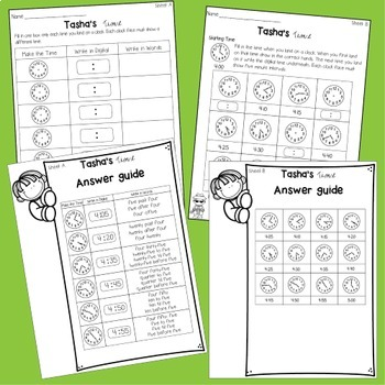 Time in 5 minute intervals Math Center