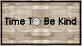 Time To Be Kind Wall Letters