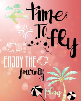 """""""Time To Fly"""" - Graphic Image for Blog, Newsletter, Sign, or Classroom Use"""