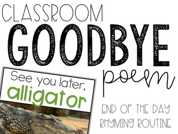 Time To Go! Good-Bye Poem