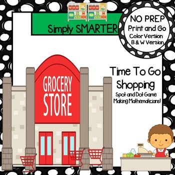 Time To Go Shopping:  NO PREP Community Themed Time To The Hour Game
