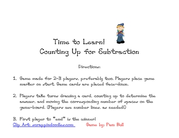 Time To Learn: Counting Up for Subtraction