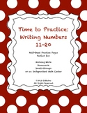 Time To Practice: Writing Numbers 11-20