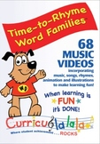 Time To Rhyme Word Families! www.curriculalala.com