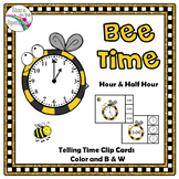 Time To The Half Hour Bee Theme Telling Time To The Half Hour