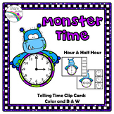 Time To The Half Hour Monster Theme Telling Time To The Half Hour