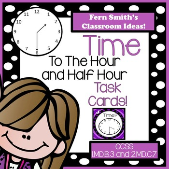 Time To The Hour and Half Hour Task Card