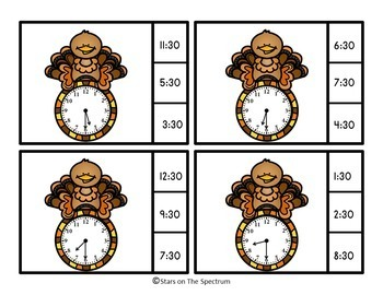 Thanksgiving Activities (Telling Time)