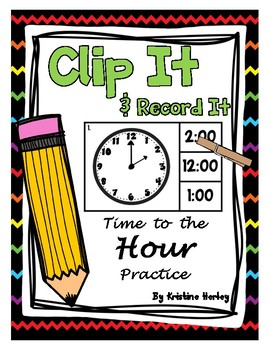 Time To The Hour  - Clip It Cards