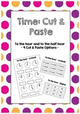 Time: To the hour and half hour - Cut and Paste