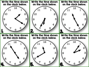Time Tower {Interactive Game Practicing Time to 5 minutes}