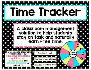 time tracker time management behavior incentive chart tpt