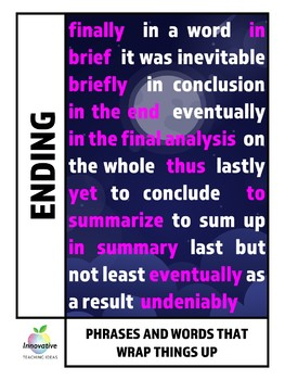 Time Transition Words for Narratives & Essays (CCSS Temporal Words)