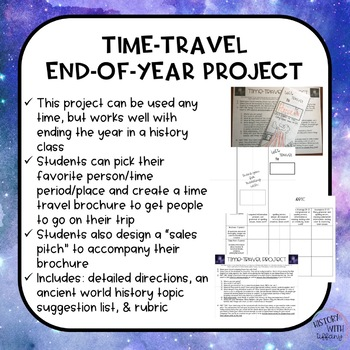 Time Travel Through History Project   End Of Year Activity