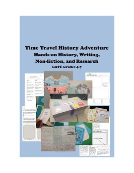 Time Travel History Adventure:Hands-on History for GATE Grades 4-7