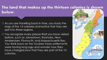 Time Travel to the 13 Colonies PPT