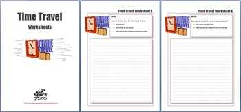 Time Travel worksheets for G&T