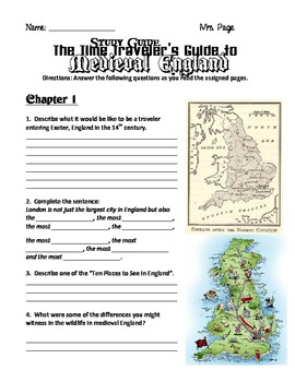 Time Travelers Guide to Medieval England Study Guide