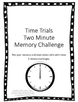 Time Trials 2 Minute Memory Challenge