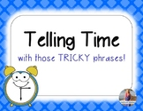 "Time ""Tricky Phrases"" Lesson (quarter to & quarter past)!"