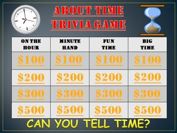 Time Trivia Game: Have a Fun Time Teaching Time!