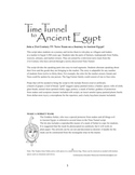 Time Tunnel to Ancient Egypt--role play in Ancient Egypt market