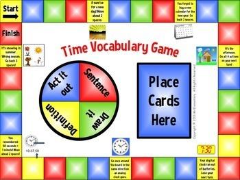 Time Vocabulary Bundle