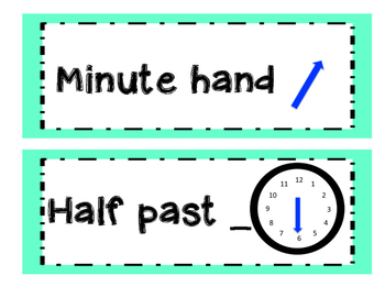 Time Vocabulary Cards