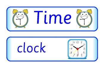 Time Vocabulary Flashcards