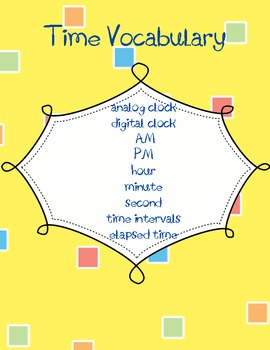Time Vocabulary Poster