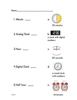 Time Vocabulary Quiz