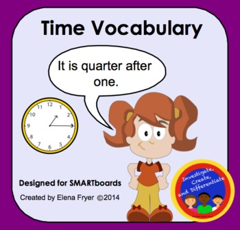 Time Vocabulary - Telling Time with Words