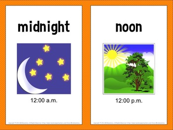 Time Vocabulary Word Wall