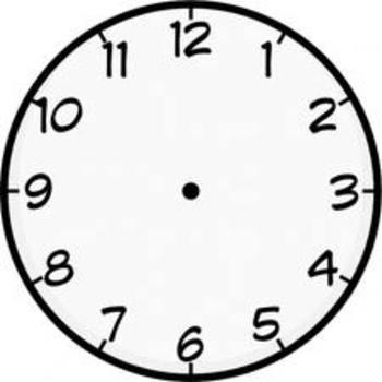 blank analog clock teaching resources teachers pay teachers rh teacherspayteachers com Digital Clock Face Cartoon Digital Clock