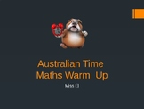 Time Warm - up - Measurement Junior Primary/ECE Math