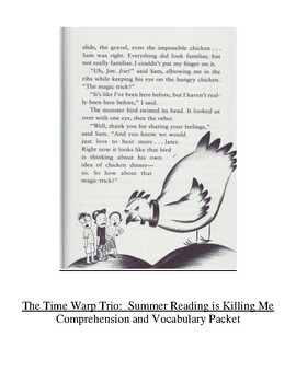 Time Warp Trio #7 Summer Reading is Killing Me Guided Read
