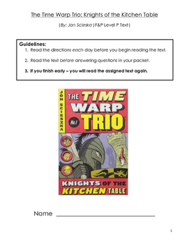 Time Warp Trio: Knights of the Kitchen Table Guided Reading Packet