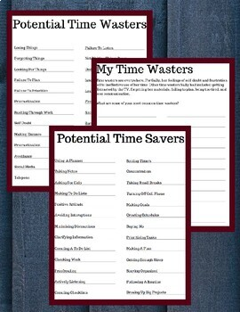 Time Wasters and Time Savers