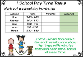 Time What does a school day look like?