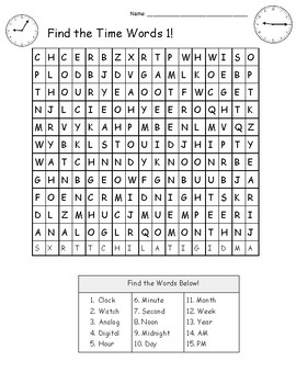 Time Word Games