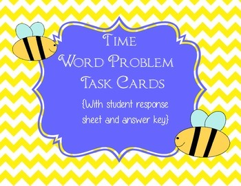 """Time Word Problem"" Task Cards"